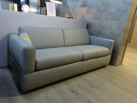 Natuzzi private label Rossana sofa bed in Grey leather
