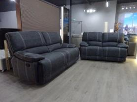 Franco hard wearing fabric manual reclining 3 & 2 seater sofa