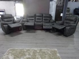 Amore Bowland 3 Seater & 2 Chairs - Manual Recliners