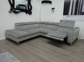 Francoferri Italia Venito power reclining fabric corner sofa