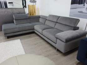 Natuzzi Saggezza soft Grey fabric L/H corner sofa