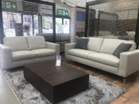 Managers Special Natuzzi Sollievo soft leather Grey 3 & 2 seater sofas