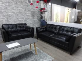 Montreal genuine soft leather 3 & 2 seater sofa
