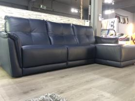 Francoferri Italia Nena Leather Twin power 3 chaise sofa