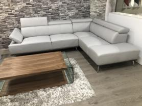 Cannes Designer corner sofa in light grey