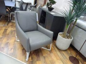 Natuzzi Regina feature chair in lovely grey leather