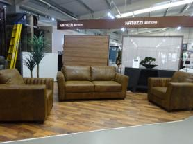 Naples soft Aniline Natural leather 3 seater & 2 chairs