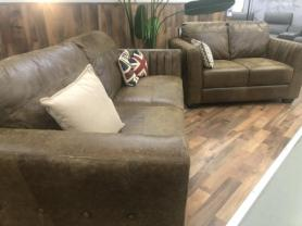 Naples soft Natural leather 3 & 2 seater sofa