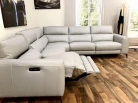 Volante Portafino power reclining arm to arm corner sofa