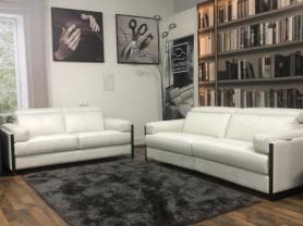 Designer Calia Italia Georgina Power reclining 3 & static 2 seater