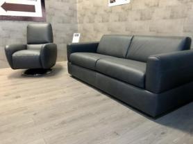 Rossana Natuzzi private label Grey leather sofabed