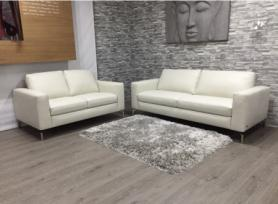 Natuzzi Sollievo Soft leather 3 Seater & 2 Seater sofa