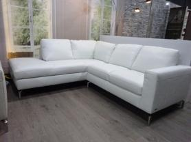 Natuzzi Sollievo soft White leather corner sofa