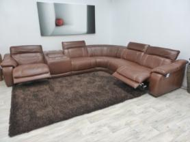 Massiccio Electric Reclining Corner Sofa with iPod Dock