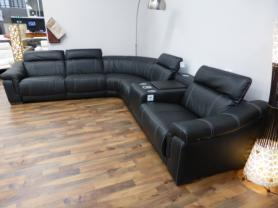 Natuzzi Private Label Bianco Electric Reclining Corner Sofa