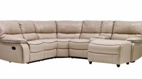 Amore Milano Gel Leather Fabric Corner Sofa