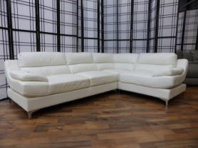 Mizzoni Milano White Leather Corner Sofa