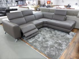 Natuzzi Editions Artisan Electric Reclining Chaise Corner Sofa Taupe