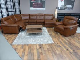 Leather Editions Brisbane Electric Recliner Corner and Chair