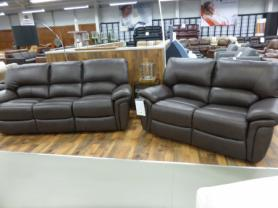 La-z-boy Memphis Brown Leather 3 & 2 Electric Recliners