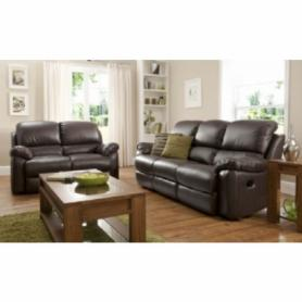 La-z-boy brown Leather Sophia 3 power & 2 manual recliners