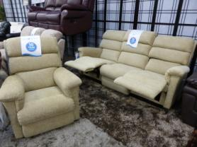La Z Boy Avenger Beige Fabric 3 Plus Chair All Recliners