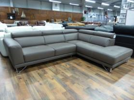 NATUZZI PRIVATE LABEL ITALIAN LEATHER CORNER SOFA