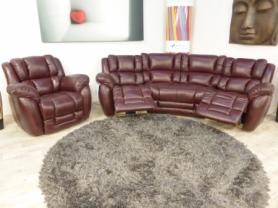 LA-Z-BOY AUGUSTA CURVE ELECTRIC SOFA WITH MATCHING CHAIR
