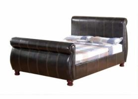 Chunky french Double Sleigh bed