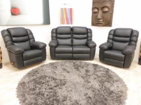 La-Z-Boy Cool Power Leather 2 Seater with 2 Reclining Chairs