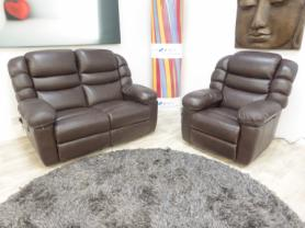 La-Z-Boy Cool Leather 2 seater & chair both electric recliners