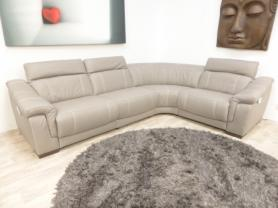Bianco Italian leather L/H 4pc  grey electric corner