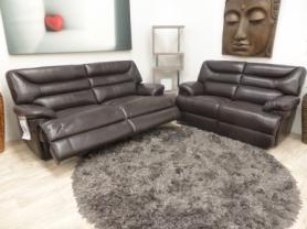 LA-Z-BOY MINNESOTA LEATHER 3 & 2 SEATER POWER RECLINERS